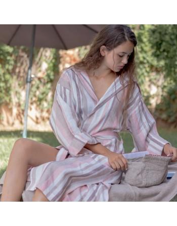 Linen bathrobe