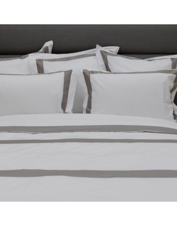 Gray Satin Bands Bed Sheets