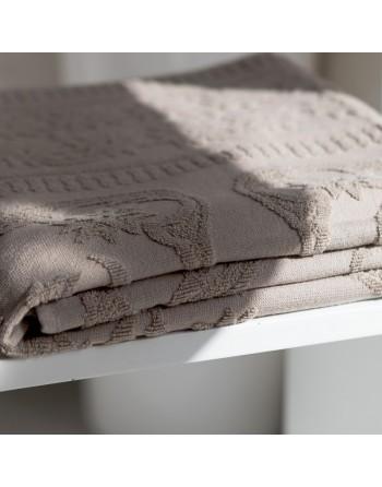 Hamam Taupe Towel with Fringe